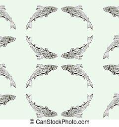 Seamless  texture salmon vintage en