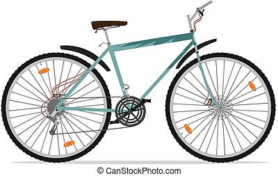 Mountain bike - Cartoon mountain bike. Vector without...