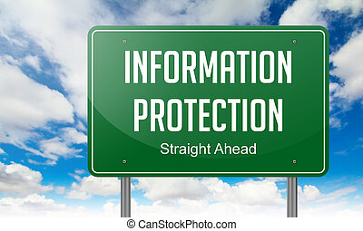 Information Protection on Highway Signpost.