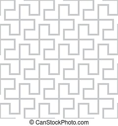 Seamless geometric pattern. Vector gray simple abstract...