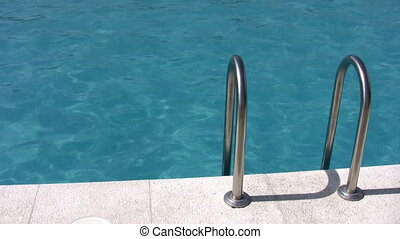 water pool and banister - Water pool and banister
