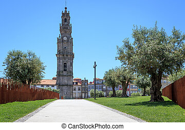 Clerigos Church Bell Tower in Porto - Clerigos Church...