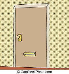 Open Mail Slot in Door