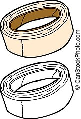 Isolated Masking Tape - Isolated masking tape in color and...