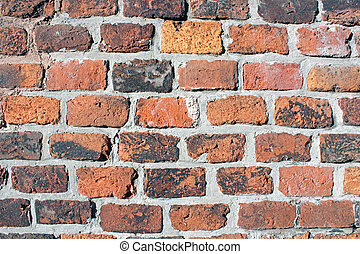 Red brick wall - Grunge red brick wall texture for your...