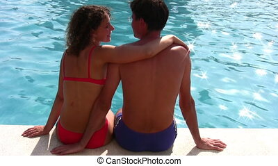 couple and pool - Couple and pool