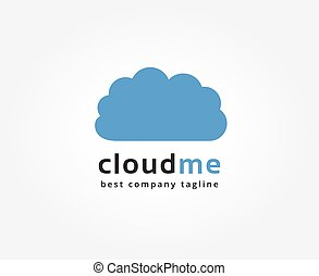 Abstract cloud storage vector logo icon concept. Logotype...