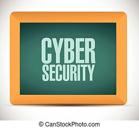cyber security sign message illustration