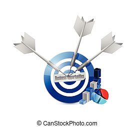 business opportunities target illustration