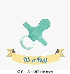 pacifier illustration  over white color backgroud