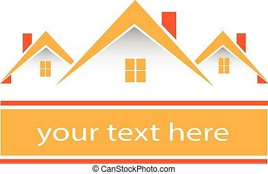 verdadero, propiedad, Casas, logo, ,