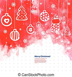 Watercolor Christmas vector illustration can be used as a greeti