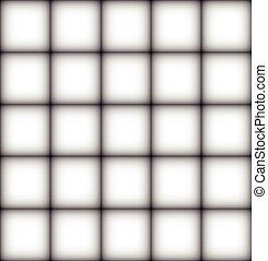 Backdrop - The backdrop is a white square with a black...