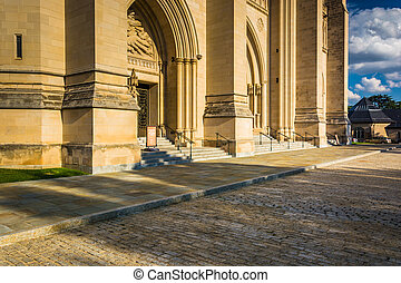 The exterior of the Washington National Cathedral in...