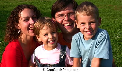 family of four faces - Family of four faces