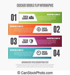 Cascade Double Flip - Vector illustration of cascade double...