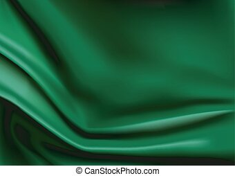 Green fabric abstract background