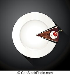 White plate and Cake slices