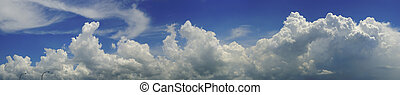 Blue sky and clouds panorama - Panoramic view of tropical...