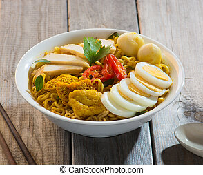 singapore curry laksa noodle
