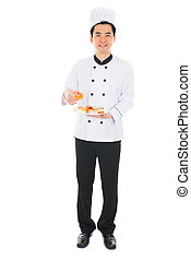 happy asian chinese male chef