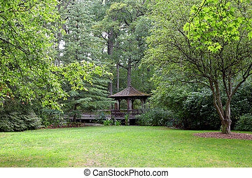 Toledo Botanical gardens - Gazebo in the middle of Toledo...