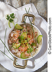 Rice with shrimp and zucchini - Submission of a second...