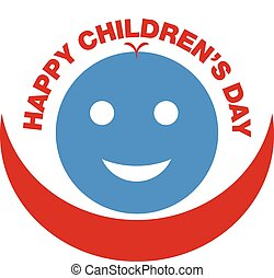 happy children's day - an illustration with round shape...