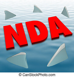 NDA Non Disclosure Agreement Sharks Danger Restriction...