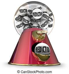 Prediction Gumball Machine Prophesy Fate Destiny Fortune...