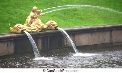 fountain Peterhof Petersburg