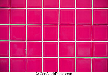 Pink Mosaic Tiles Texture - Modern style design of pink...
