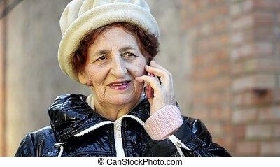 senior woman making a phone call 02