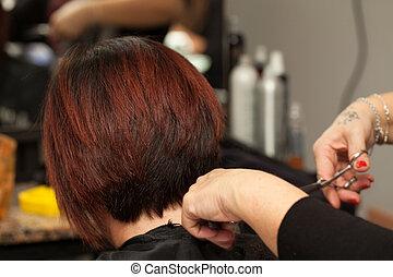 Hair Cut - Hair cut in a professional hairdresser salon.