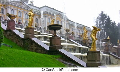 fountain. Peterhof. Petersburg.