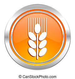 grain icon, agriculture sign