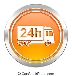 delivery icon, 24h shipping sign