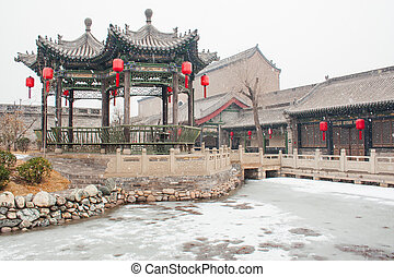 chinese old style pavilion