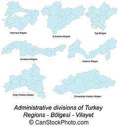 Maps of all turkish regions - Large and detailed maps of all...