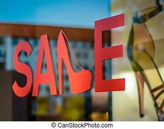 Verkauf, Schuh, kaufmannsladen, zeichen