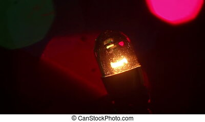 christmas lightbulb loop close-up - christmas lightbulb...