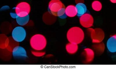 colorful christmas lights bokeh