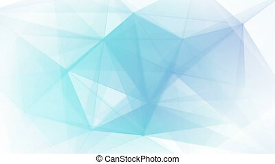 blue triangles on white background