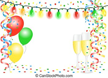 party background with balloons - vector illustration of a...