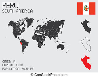 Set of Infographic Elements for the Country of Peru - A Set...