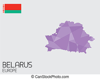 Set of Infographic Elements for the Country of Belarus - A...