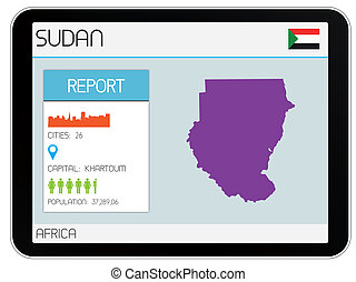 Set of Infographic Elements for the Country of Sudan - A Set...