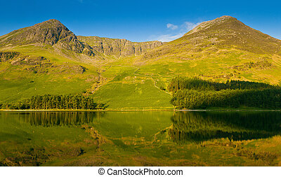 Buttermere Fells - The mountains around the shore of...