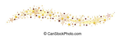stars and stardust as a decorative arrangement