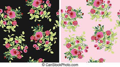 seamless fancy flower pattern